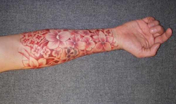 tattoo unterarm bilder ideen blumen