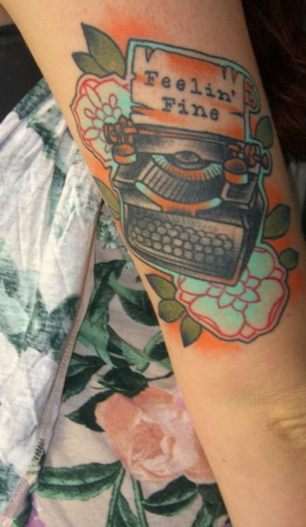 tattoo unterarm motive schreibmaschine
