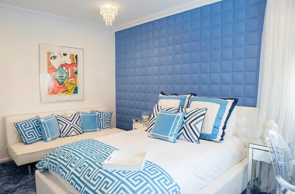 teen schlafzimmer gestalten blau weiß