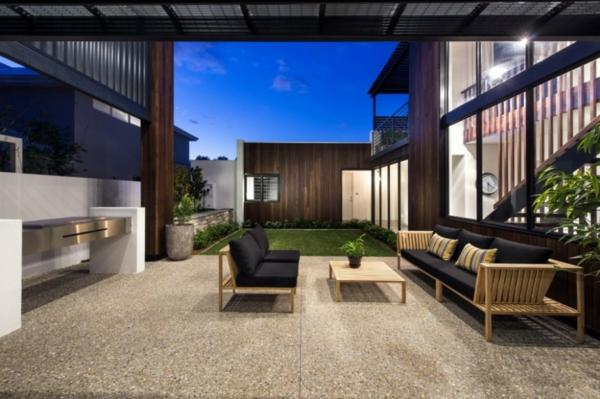 terrassengestaltung beispiele lounge möbel aus holz nachhaltige architektur