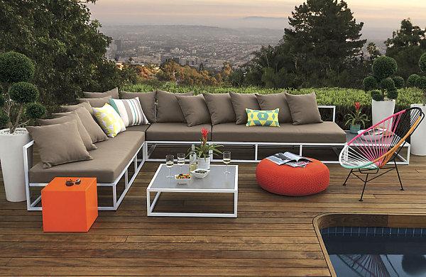 terrassengestaltung coole einrichtungsideen lounge möbel sofa sitzkissen