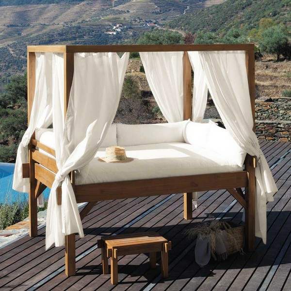 40 ideen f r outdoor bett die p chtige deko f r ihren garten. Black Bedroom Furniture Sets. Home Design Ideas