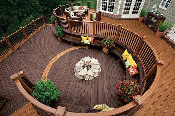 terrassengestaltung holz sitzecken im garten