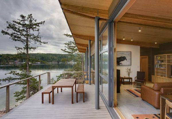 terrassengestaltung terrassenmöbel ideen beispiele holzbank holztisch trerrassendielen