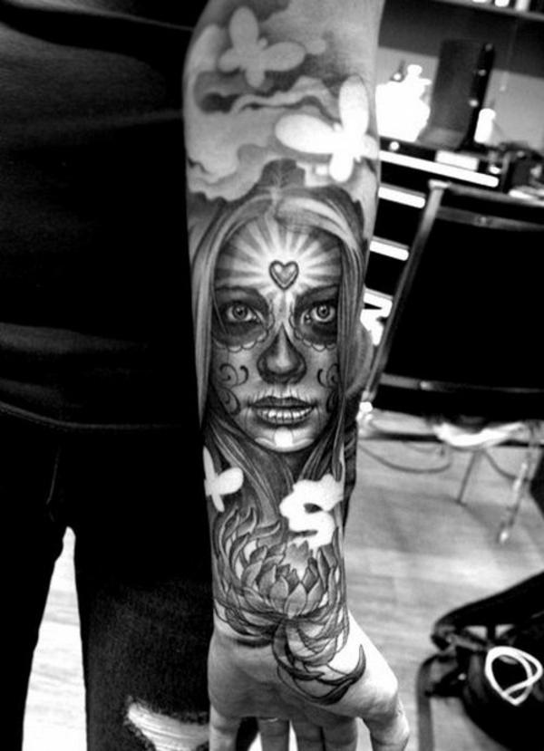 tolle ideen für unterarm tattoo frau
