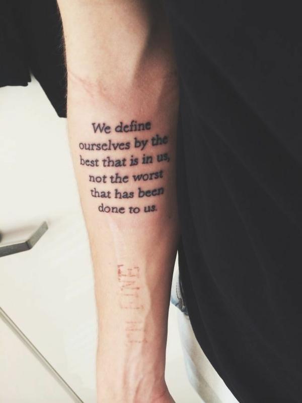 tattoo sprüche schöne schriften unterarm