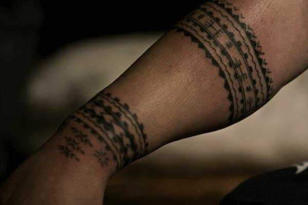 unterarm tattoo polynesisch cool