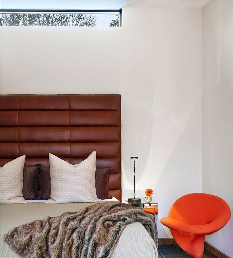 umweltfreundliche architektur residenz schlafzimmer polsterbett