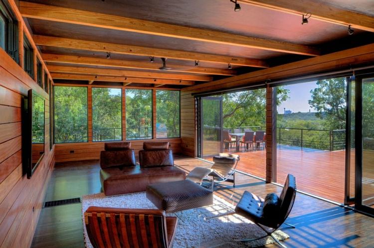 umweltfreundliches design nachhaltige architektur residenz wohnbereich terrasse holzeinrichtung