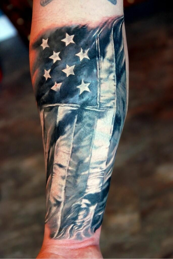 unterarm tattoo design ideen amerika motive