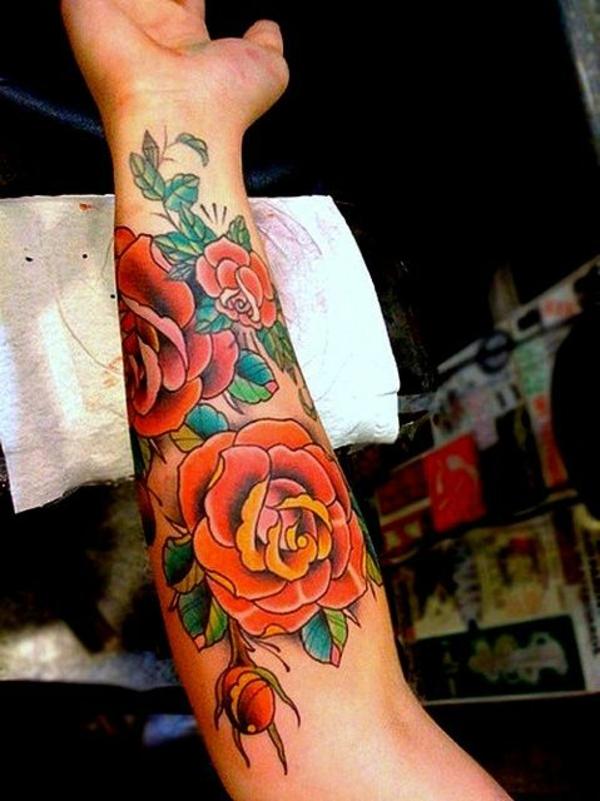 unterarm tattoo motive blumen