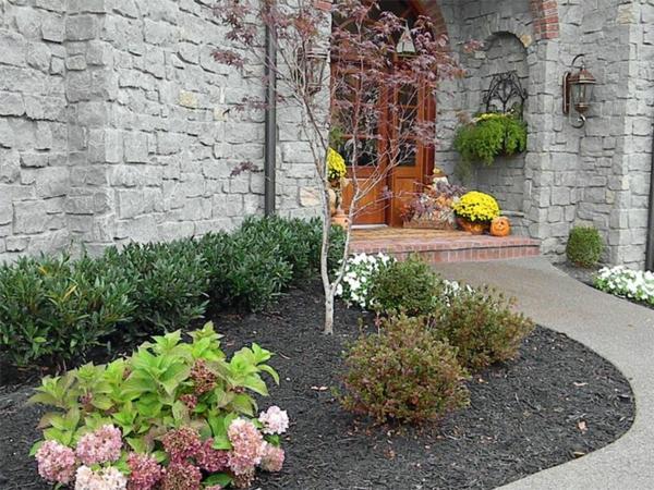vorgarten gestalten landschaft dekoideen pflanzen