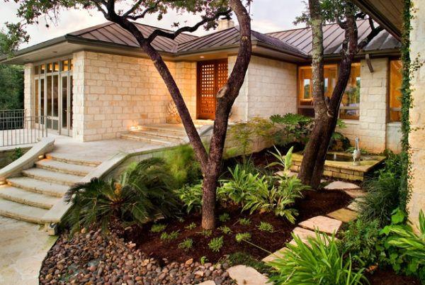 vorgarten gestalten patio zeitgenössisch art