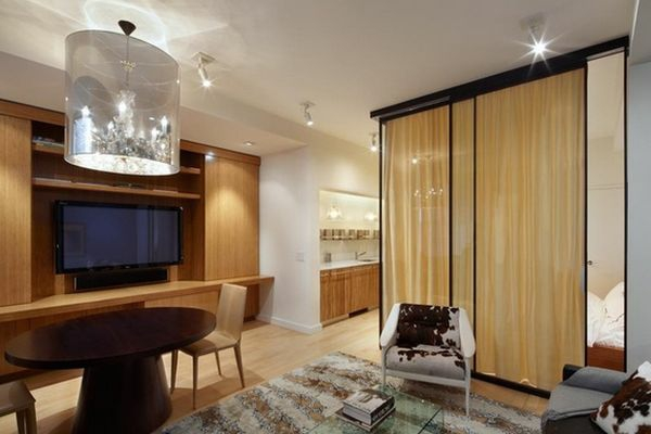 trennvorhang zimmer, vorhang als raumtrenner verwenden - kluge wohnideen, Design ideen