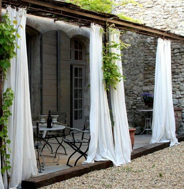 Vorhang als raumtrenner verwenden kluge wohnideen for Rideaux exterieur terrasse