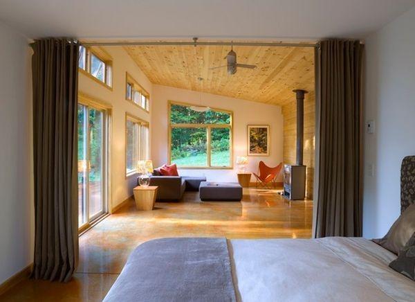 Wohnideen Raumtrennung vorhang als raumtrenner verwenden kluge wohnideen