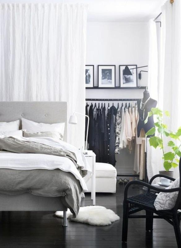 vorhang als raumtrenner verwenden kluge wohnideen. Black Bedroom Furniture Sets. Home Design Ideas