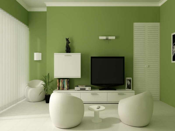 wohnzimmer olivgrün:Green Paint Colors for Living Room