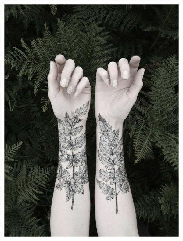 wald tattoo für frauen unterarm motive