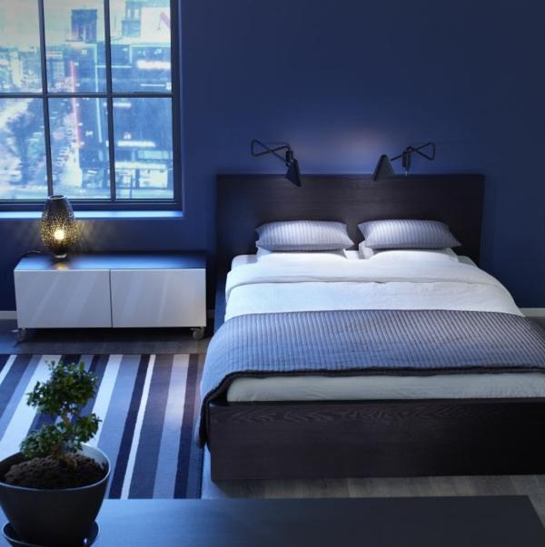 schlafzimmer : schlafzimmer wand blau schlafzimmer wand blau ... - Schlafzimmer In Blau Gestalten