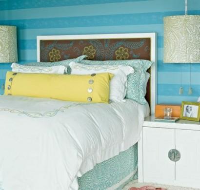 Schlafzimmerwand gestalten thematische wanddeko im - Schlafzimmerwand gestalten ...
