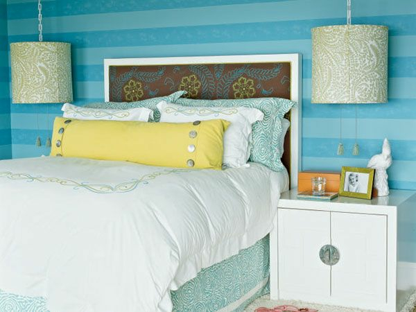 wanddeko farben Schlafzimmer wand gestalten saftig