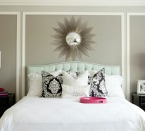 Wand Mit Spiegel Gestalten schlafzimmerwand gestalten thematische wanddeko im schlafzimmer