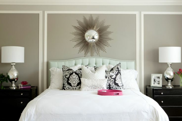 schlafzimmerwand gestalten - thematische wanddeko im schlafzimmer - Wanddeko Schlafzimmer