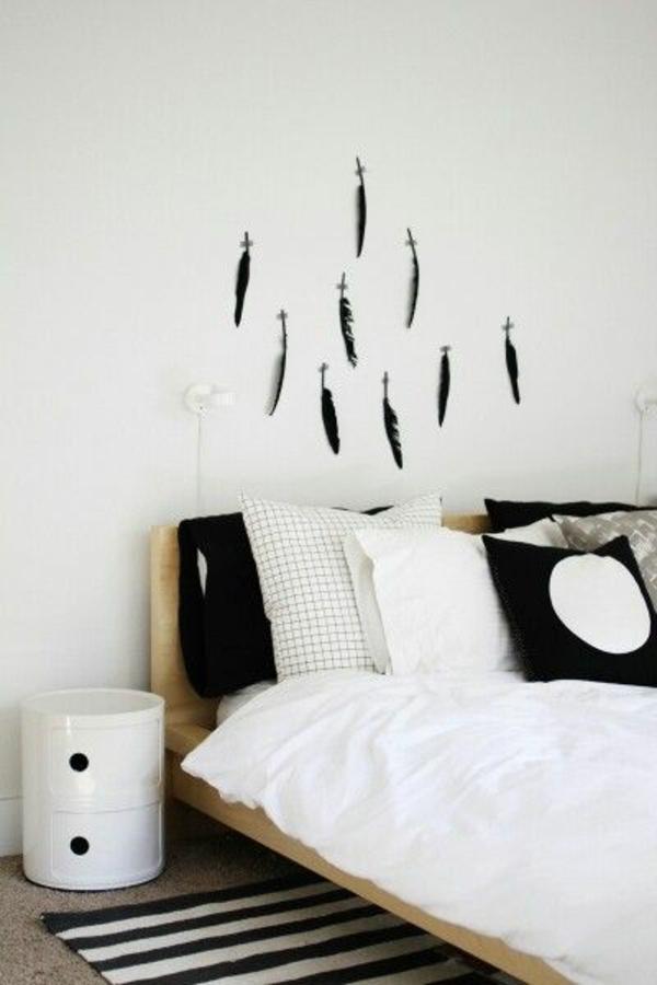 Schlafzimmer Wandgestaltung Streifen: Brauntone Als Wandfarben ... Schlafzimmer Farben Streifen