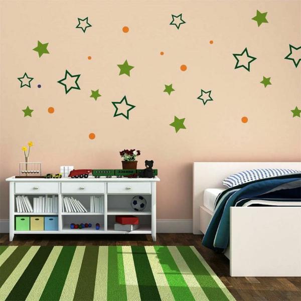 wanddeko schlafzimmer farben wand gestalten teppich