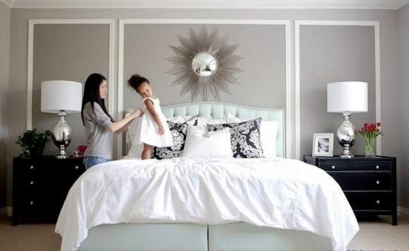 wanddeko schlafzimmer farben wand verkleidung