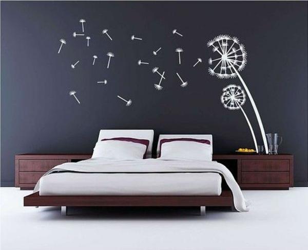 schlafzimmerwand gestalten thematische wanddeko im schlafzimmer. Black Bedroom Furniture Sets. Home Design Ideas