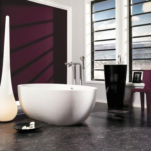 wandfarbe beere schöner wohnen trendfarben lounge moderne badezimmer