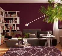 Wohnzimmer Farbe wandfarbe beere trendy farbtöne für eine moderne wandgestaltung
