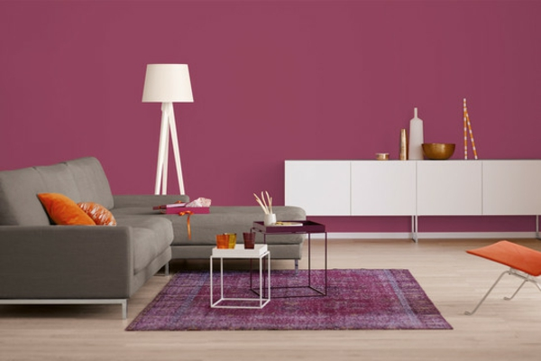 Wandfarbe Beere - trendy Farbtu00f6ne fu00fcr eine moderne ...