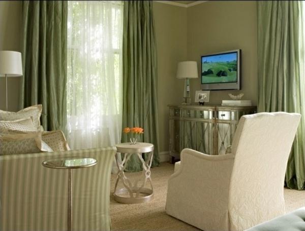 wandfarbe olivgrün wände streichen farbideen wohnzimmer