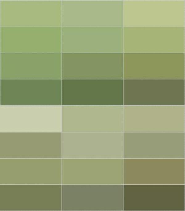 wandfarbe olivgrün wände streichen farbpalette grün olivgrün