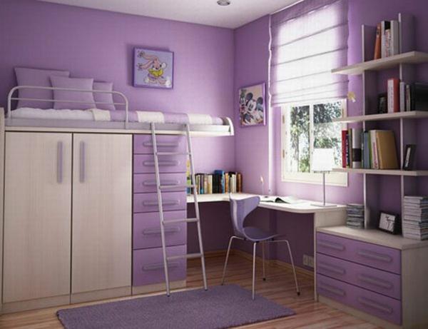 wandfarben ideen kinderzimmer lila violett trendfarbe wände streichen
