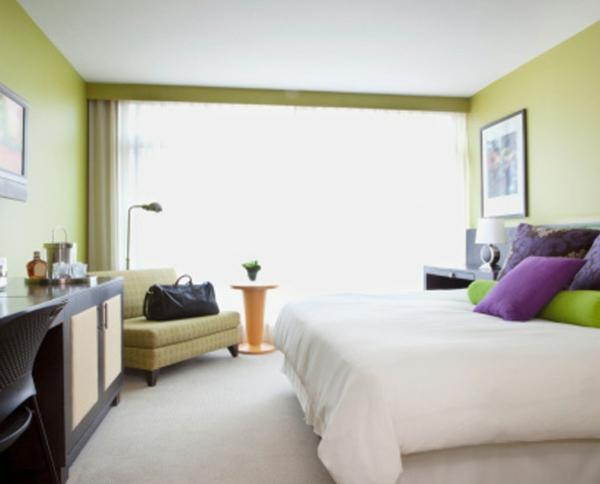 wandfarben ideen schlafzimmer grün beruhigend entspannennd