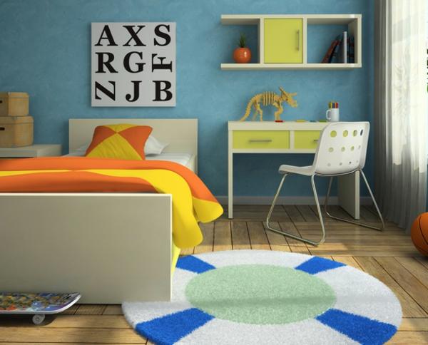 wandfarben ideen schlafzimmer kinderzimmer jungenzimmer hell blau wände streichen