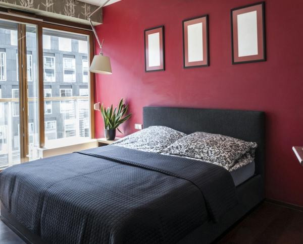 Schlafzimmer Ideen Wandgestaltung Dunkelrot Rockydurham Com