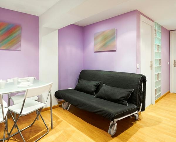 wandfarben ideen wohnraum hell lila trendfarbe wände streichen
