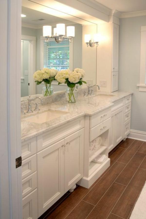 badezimmer badmöbel blumen spiegel