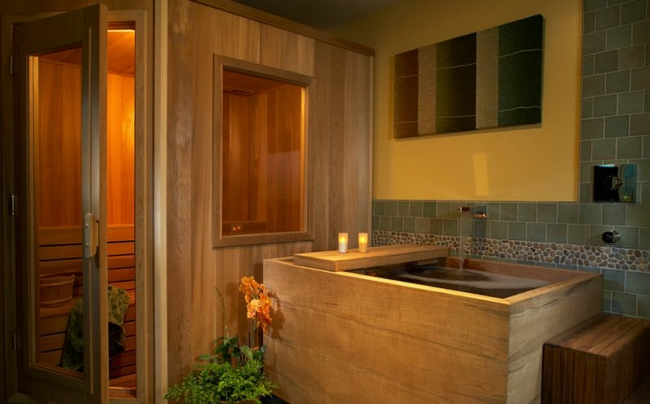 Wellness Sauna Badewanne Mit Whirlpool Moderne Badezimmer