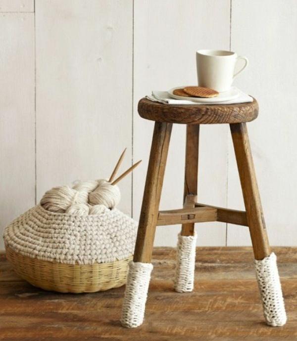wohnideen accessoires dekoideen gestrickte möbel stuhl