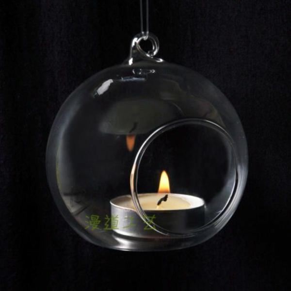 wohnaccessoires hängende vase kerze