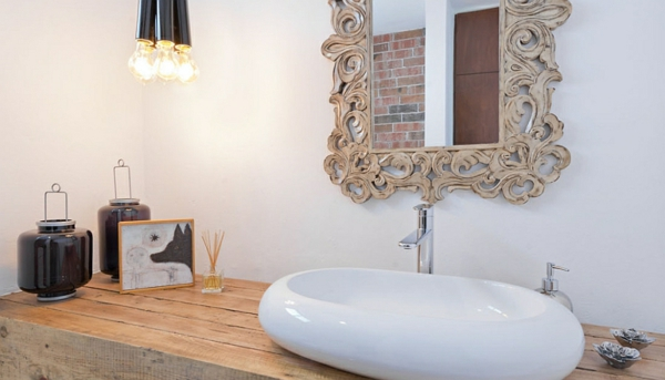 badezimmer einrichtung holz waschschrank hauserweiterung anbau