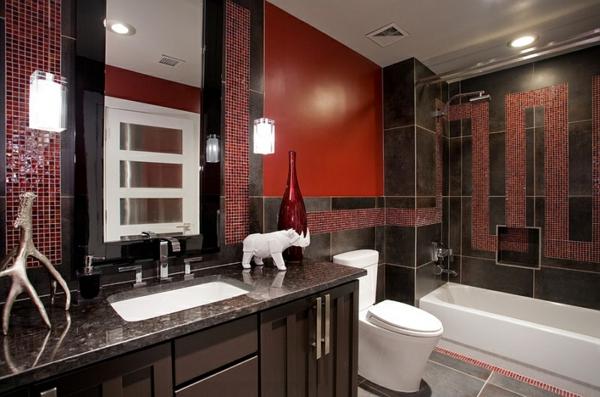 wohnideen badezimmer granit fliesen