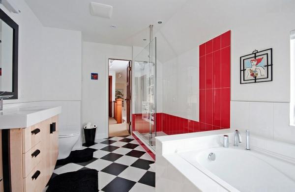 hinreißende wohnideen in rot-schwarz-weiß, Hause ideen