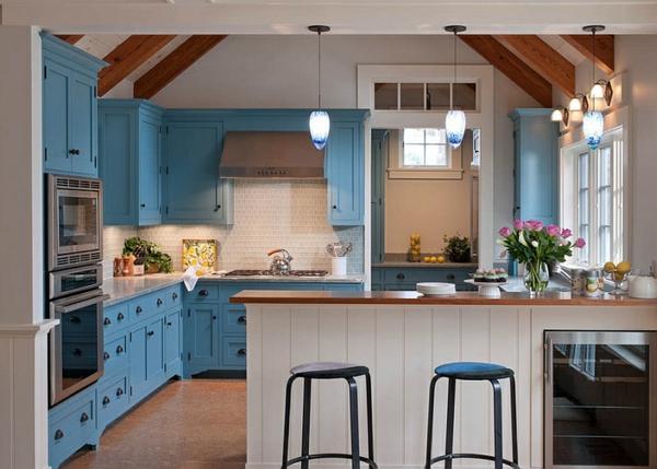 blau und weiß traditionelle küchen küchenmöbel